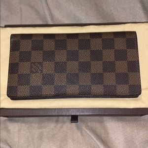❤️SOLD Louis Vuitton damier ebene long wallet ❤️